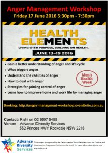 Anger Managment Workshop flyer