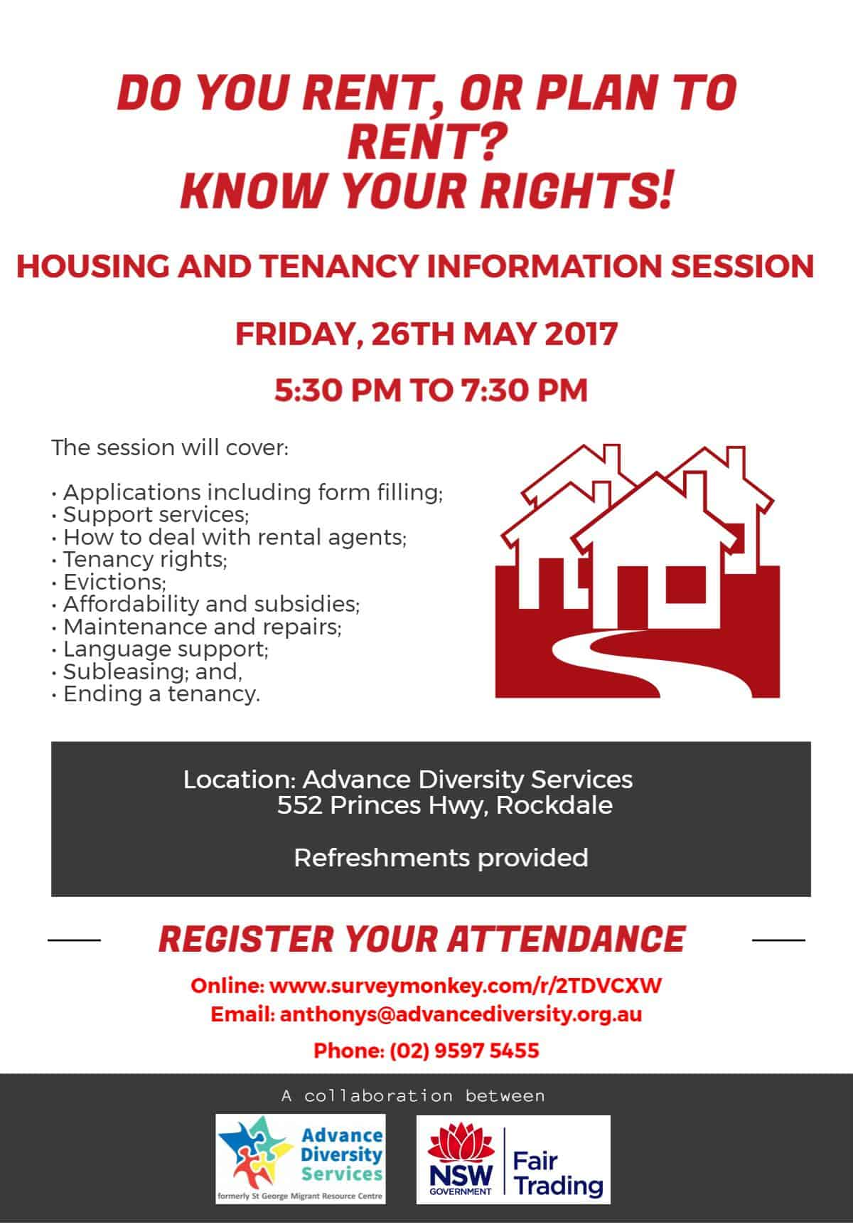 HOUSING & TENANCY INFO SESSION