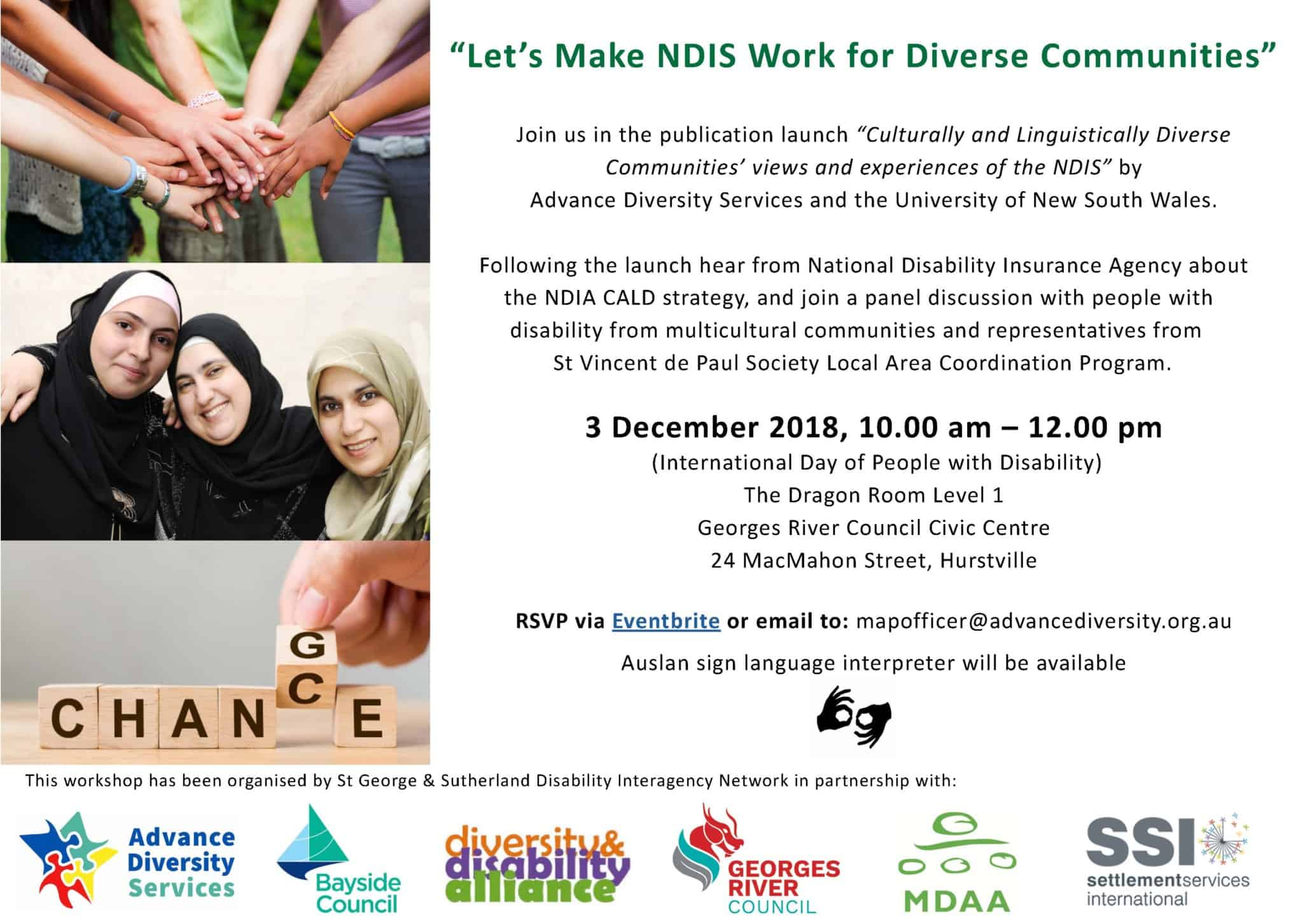 Launch/Workshop NDIS for CALD Communities