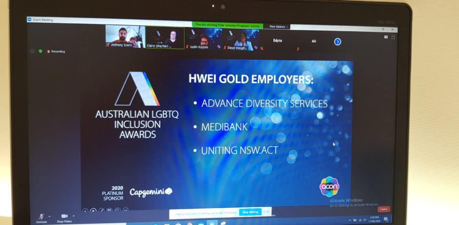 Advance Diversity Services awarded top marks for LGBTIQA+ inclusion