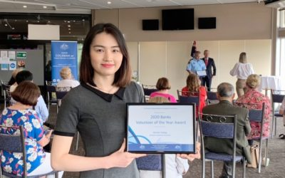 Wendy Huang awarded Volunteer of the Year for Banks